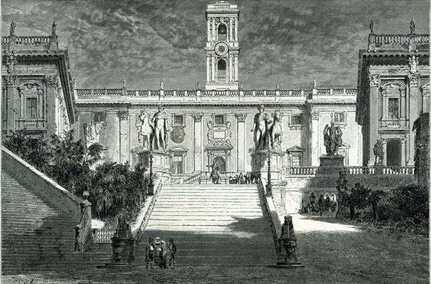Facade of the Senatorial Palace, Rome