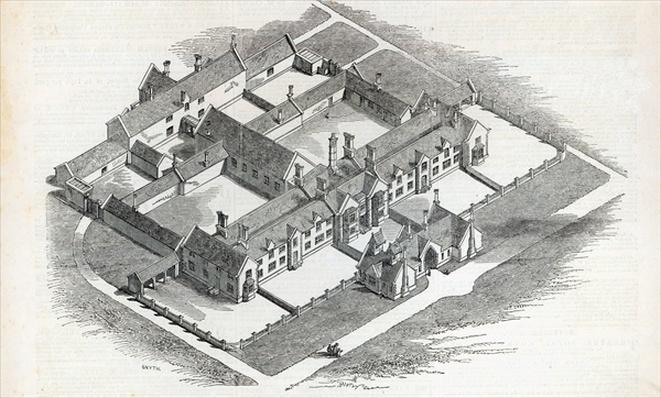The Union Workhouse to be erected at Canterbury, from 'The Illustrated London News', 7th November 1846