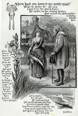 Where have you been to my pretty maid?, from 'Leisure Hour', 1888