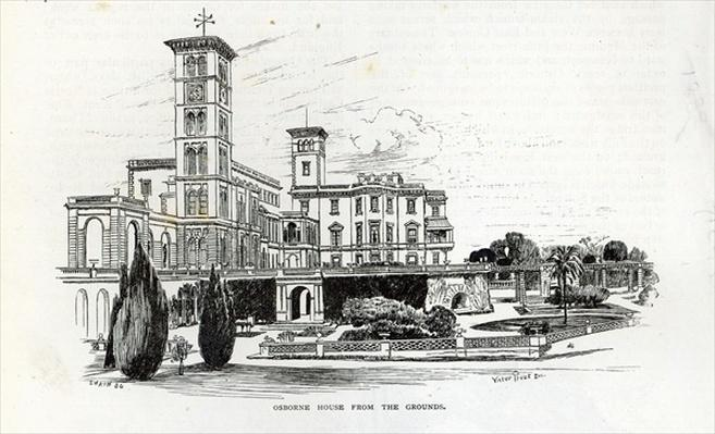 Osborne House from the Grounds, from 'Leisure Hour', 1888