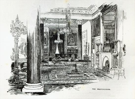 The Drawing Room, Osborne House, from 'Leisure Hour', 1888