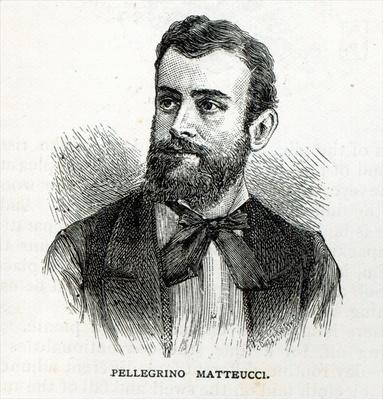 Portrait of Pellegrino Matteucci, from 'Leisure Hour', 1888