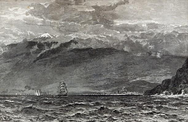 The Peak of Teneriffe, Sante Cruz, from 'Leisure Hour', 1888