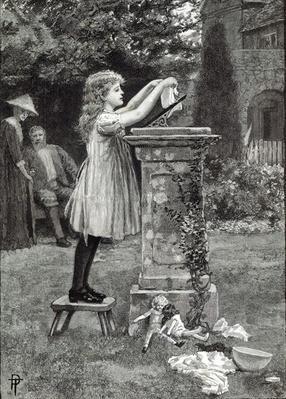 Washing day, from 'Leisure Hour', 1888