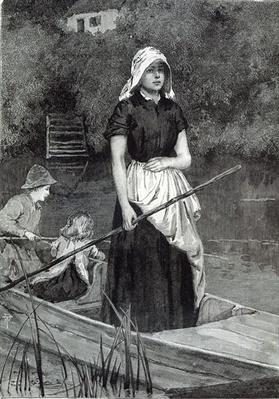 Waiting for Father, from 'Leisure Hour', 1888