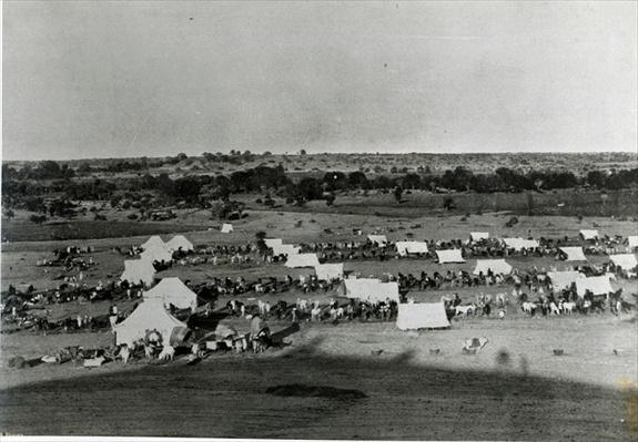 Cavalry camp at Betma, India, c.1895