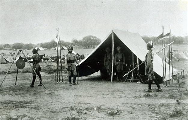 Guard tent of the Mysore Lancers, India, c.1896