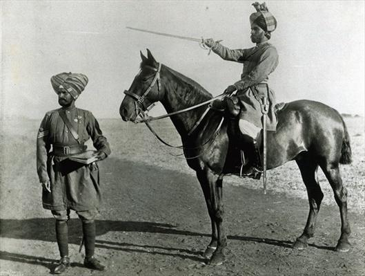Native officer and non-commissioned officer, Central India Horse, c.1896