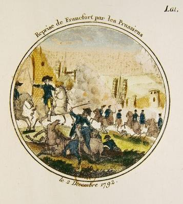 The retaking of Frankfurt by the Prussians, 2nd December 1792