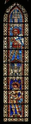 St. Maurice above St. Victor, window 203b