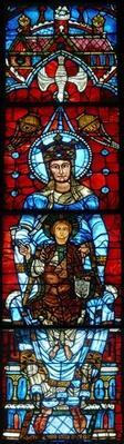 The Virgin and Child: The Notre Dame de la Belle Verriere window