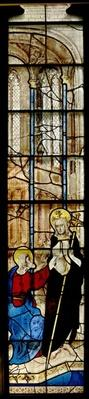 Window depicting the Doubting St. Thomas