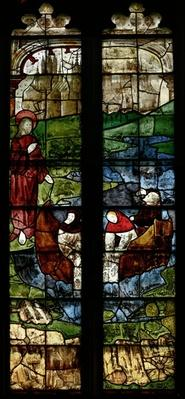 Window depicting Christ and the Fishermen