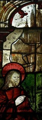 Detail from window depicting Christ and the Fishermen
