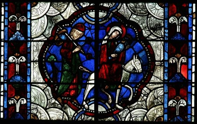 Window depicting the Flight into Egypt