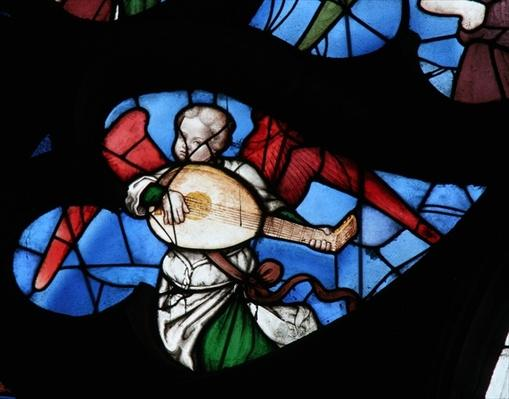Window depicting a Musical Angel