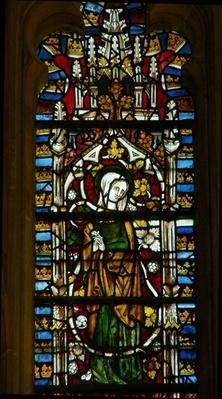 Window depicting the Virgin Mary on the Tree of Jesse