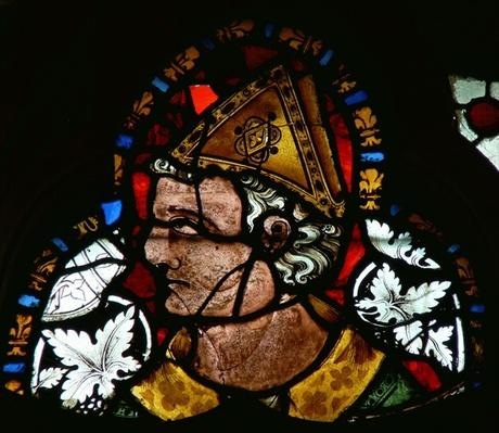 Window depicting St. Cuthbert