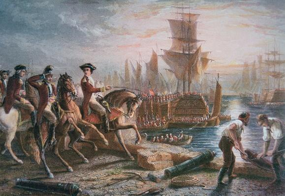 Lord Howe organizes the British evacuation of Boston in March 1776