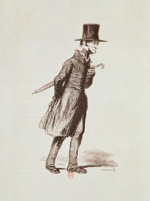 The Employee, from 'Les Francais peints par eux-memes', engraved by Guillaumot, Paris, c.1850