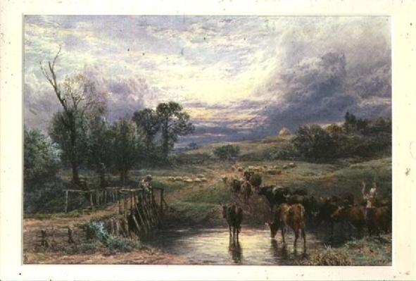 Landscape with Cattle and Bridge, 19th century
