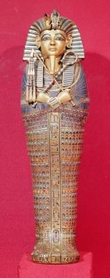 Front view of one of the canopic coffins, from the Tomb of Tutankhamun