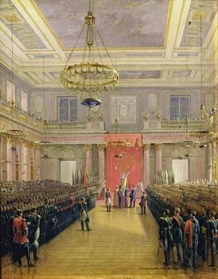 The Oath of the Successor to the Throne Alexander II Nickolaevich in the Winter Palace, 1837