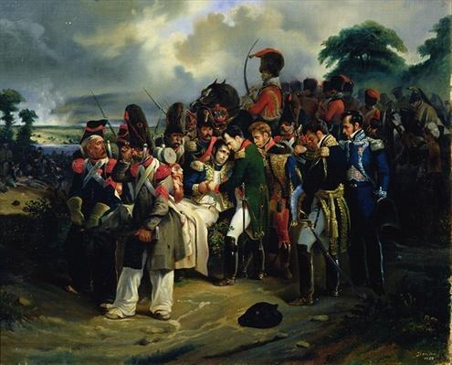 Napoleon bidding farewell to Marshal Jean Lannes, 1858