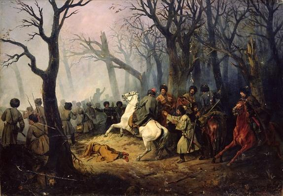 The Death of General Sleptsov in the Caucasus, 10th December, 1851