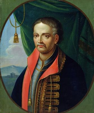 Portrait of Ivan Mazepa, hetman of the Ukrainian cossacks