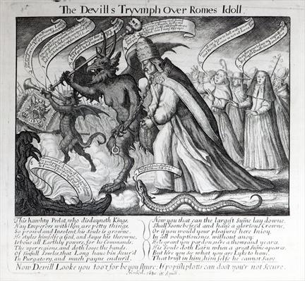 The Devil leading the Pope in Chains, 1680