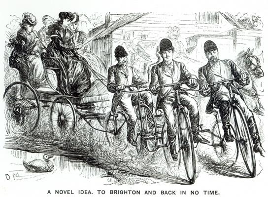 A New way to travel to Brighton, 1864
