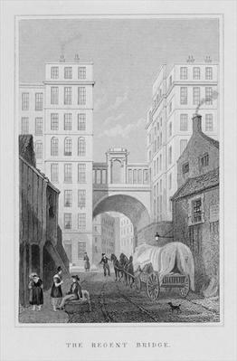 The Regent Bridge, Edinburgh, engraved by Thomas Barber, 1829