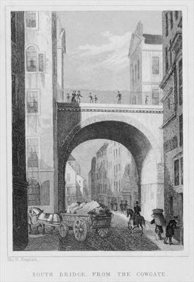 South Bridge from the Cowgate, Edinburgh engraved by William Watkins, 1831
