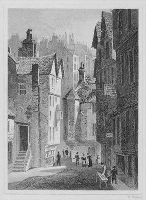 High School, Wynd, Edinburgh engraved by William Watkins, 1831