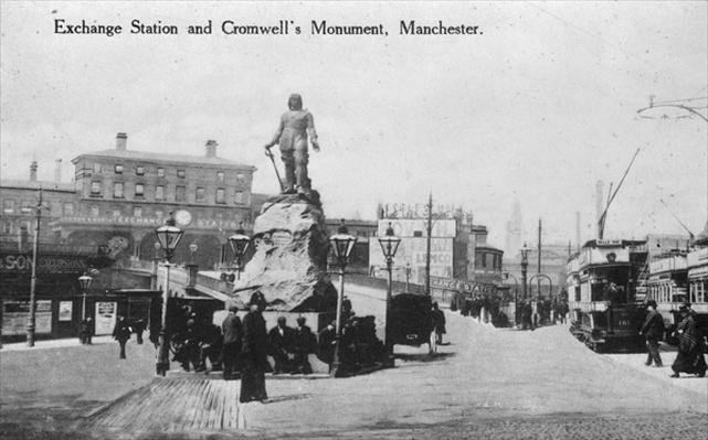 Exchange Station and Cromwell's Monument, Manchester, c.1910