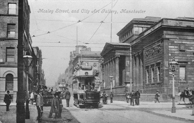 Mosley Street, and City Art Gallery, Manchester, c.1910