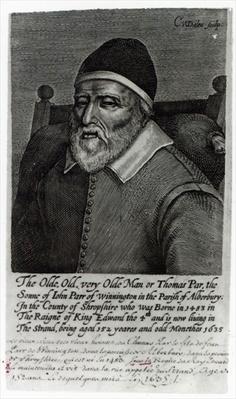 Old Tom Parr, 1635