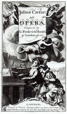 Cover of Sheet Music for Julius Caesar, an Opera by Handel, published in 1724