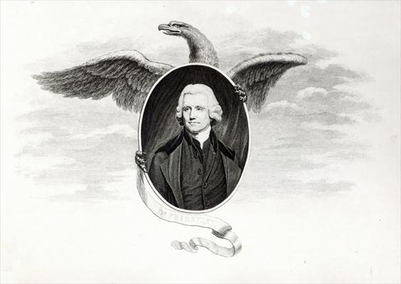 Dr. Priestley, illustration from 'Chemical Philosophers of the Present Day', engraved by James Caldwell