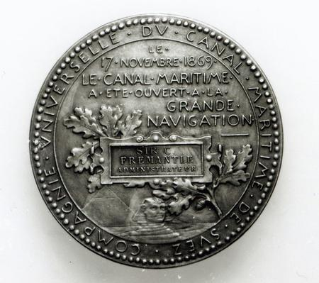 Medal commemorating the opening of the Suez Canal on November 17th 1869