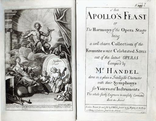 Frontispiece for Apollo's Feast, c.1734