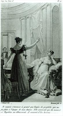 The Empress Josephine reveals the prophesy made to her by Marie Anne Adelaide Le Normand at the time of her divorce from Napoleon I in 1809, 1821