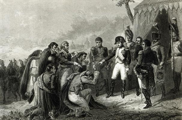 The Defeated Spanish prostrate before Napoleon before his entry into Madrid, December 1808