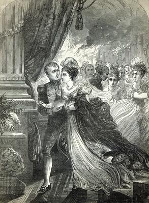 Napoleon and Marie-Louise escaping from the fire at the ball given on July 1st