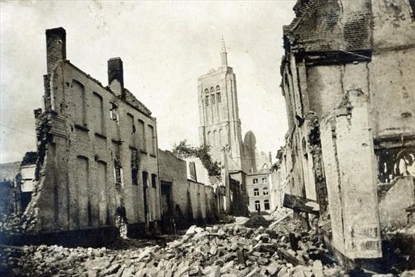 St. Jacob's Church, Ypres, June 1915