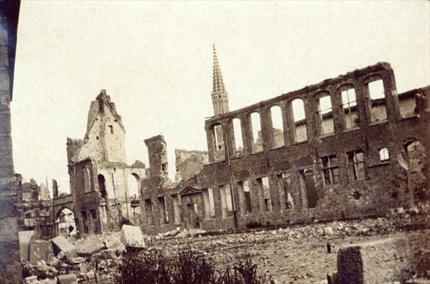 Ruins near the Powder Magazine, Ypres, June 1915