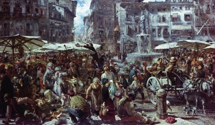 The Market of Verona, 1884