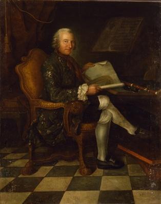 Isaac Egmont von Chasot at his Desk