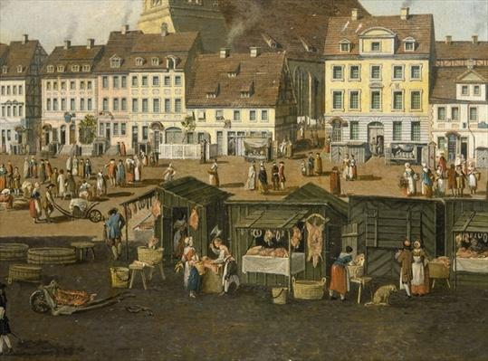 The New Market in Berlin with the Marienkirche c.1770